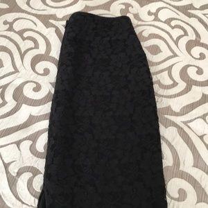 Express midi black lace skirt.